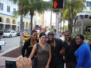 Cameen Rocking with some fans in Miami