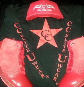 Red CC Hat, Shirt, and Kicks