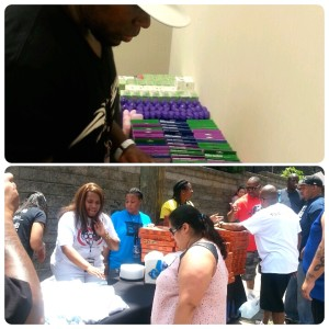 Cameen Helping with The Core Cares Feeding the homeless in Downtown Atlanta