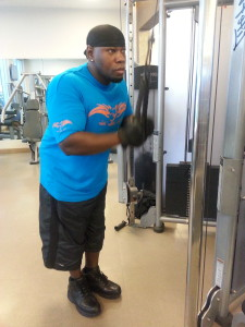 Cameen Working out Loews Spa-